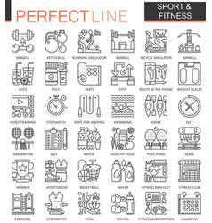 sport and fitness outline concept symbols perfect vector image vector image