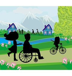 Spring day in the park vector