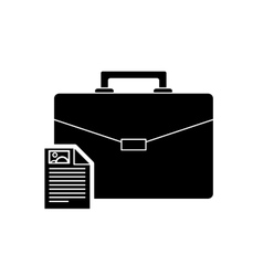 suitcase and document icon vector image