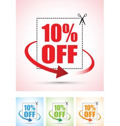 Ten percent arrow set vector