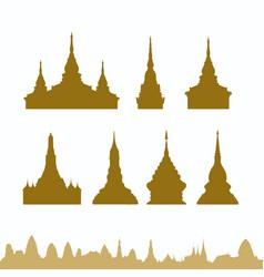 Thailand pagoda vector