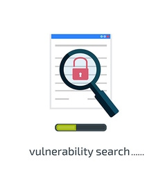 Vulnerability search icon vector