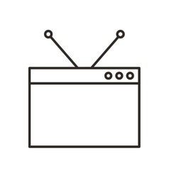 Monitor desktop computer icon vector