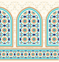 Islamic architectural mosaic background vector