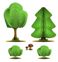trees and plants vector image
