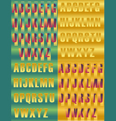 Striped artistic alphabets vector