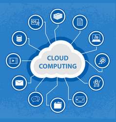 Big data cloud computing concept vector