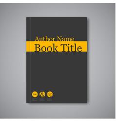 Modern abstract book design template vector