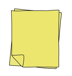 Notebook paper drawing vector