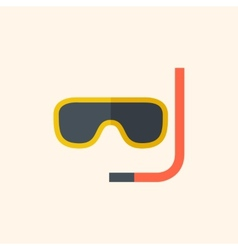 Snorkeling travel flat icon vector