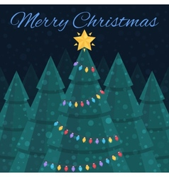Merry christmas  christmas card nightlife vector