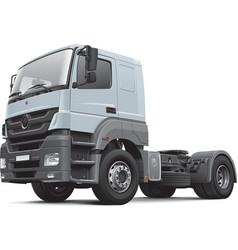European commercial freight vehicle vector