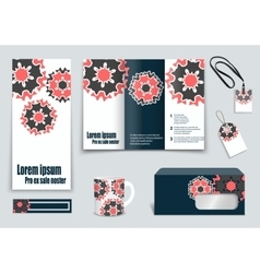 Set of presentation flyer design content vector