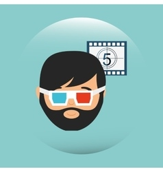 Movie viewer design vector