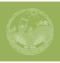Natural farm logo design template agriculture vector