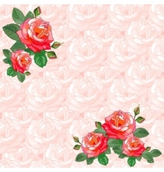 Vintage greeting card with roses vector