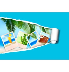 photo ripped papper vector image