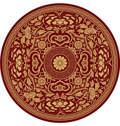 Chinese traditional pattern rosette vector