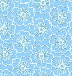 White stencil print hibiscus floral seamless vector