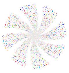 Arrow pointer fireworks swirl rotation vector