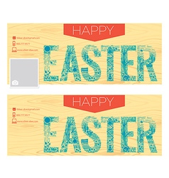 background Happy Easter vector image vector image