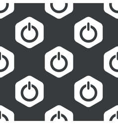 Black hexagon power pattern vector