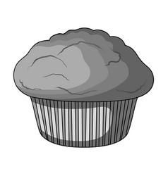 Cake single icon in monochrome stylecake vector