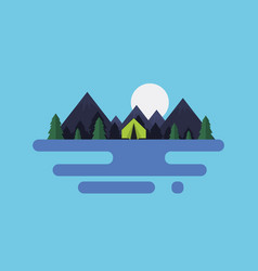 cartoon flat natural landscape vector image