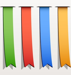 colored ribbon stripes vector image vector image