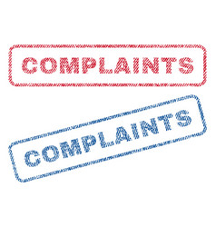 Complaints textile stamps vector