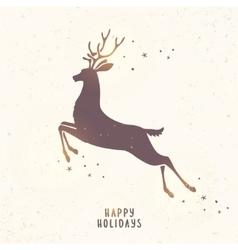Deer silhouette holiday vector
