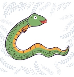E is for Eel vector image vector image