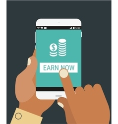 Earn your money now vector