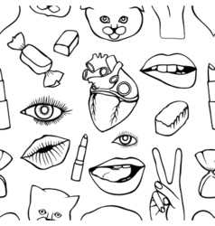 Fashion patch badges seamless pattern vector image vector image