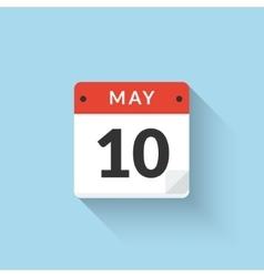 Flat Calendar Icon design Business symbol vector image vector image