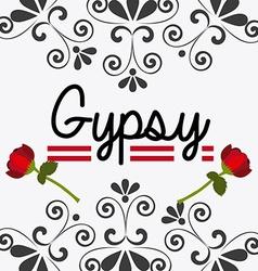 Gipsy design vector