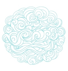 Hand drawn background with linear twirl pattern vector image vector image