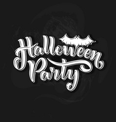 happy halloween party lettering for your design vector image vector image
