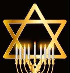 Happy hanukkah jewish background vector
