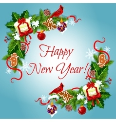 Happy new year holiday frames vector