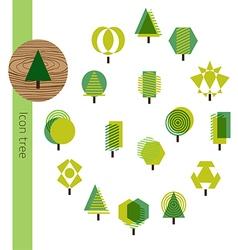 Icon Tree Wood vector image