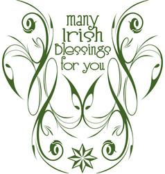 Irish blessings insignia vector