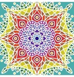 Mandala Tile Ornament Pattern vector image