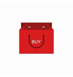 Modern shopping buy icon on white vector