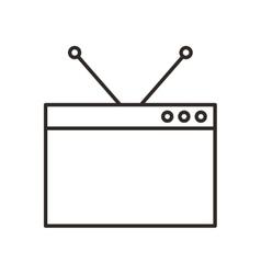 monitor desktop computer icon vector image