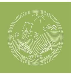 Natural farm logo design template agriculture vector