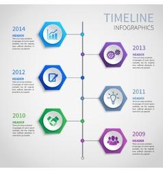 Paper timeline infographics vector