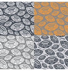 Seamless pattern rugby ball vector image