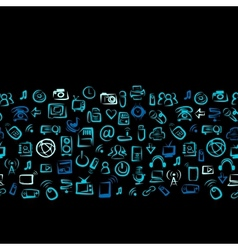 Seamless pattern with IT devices for your design vector image