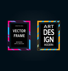 set of hand painted brush frames quote vector image vector image